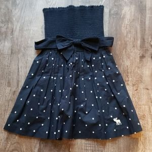 Abercrombie & Fitch Smocked Polka Dot Dress